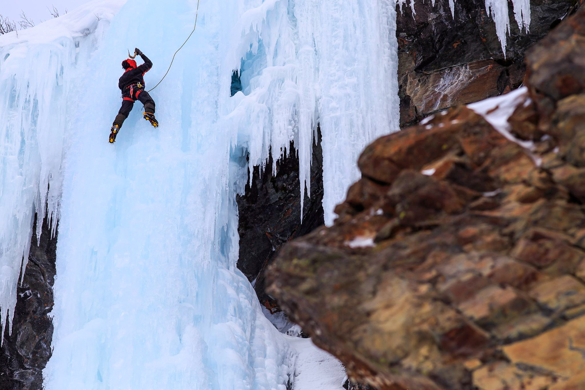 Ice Climbing Along the Arctic Circle: An Interview with Aron Johansson of Aronski